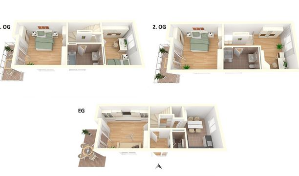 4-Zimmer Appartment Townhouse Variante 2